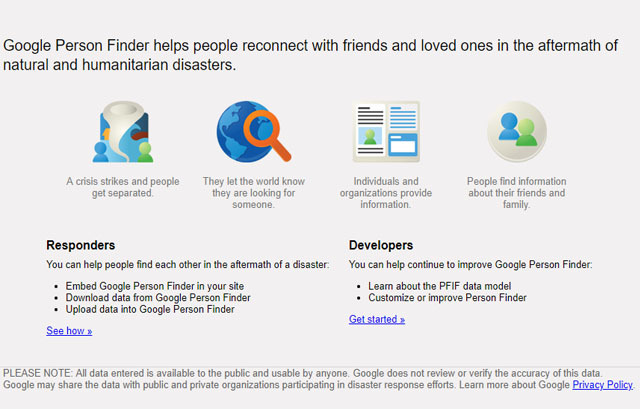 google person finder google person finder app to find and help