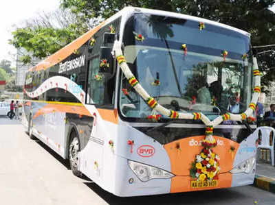 electric bus arrived in mumbai thane tmt start bus service without service station