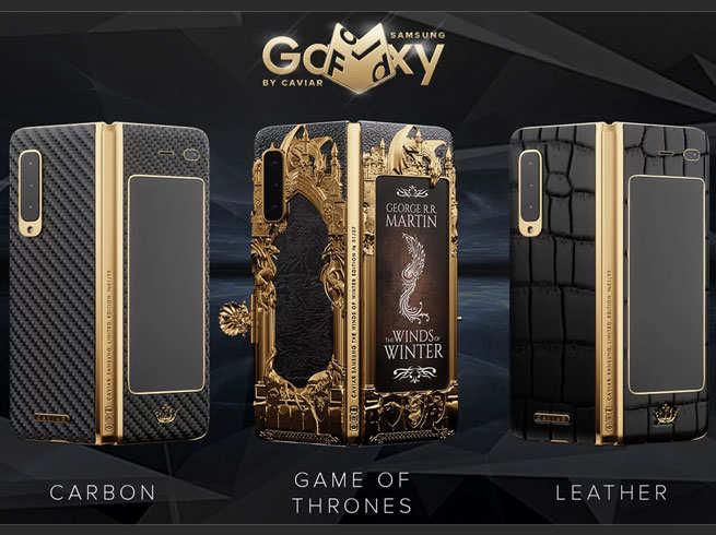 Samsung foldable phone: Caviar launched samsung galaxy fold game of thrones edition - Samsung के foldable phone का स्पेशल एडिशन, कीमत 5 लाख रुपये से ज्यादा