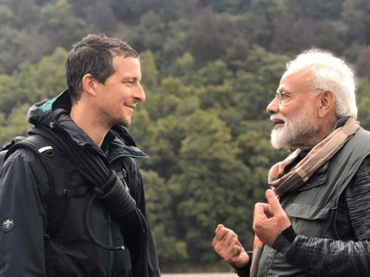 What Modi said when Bear Grylls threatened Tiger