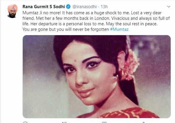 punjab minister tweets mumtaz death news: पंजाब के ...