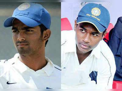 विजय जोल और संजू सैमसन।