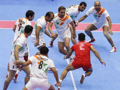 भारतीय टीम के एक कबड्डी मुकाबले की फाइल फोटो...