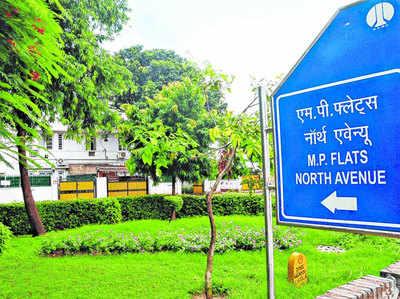 दिल्ली के नॉर्थ एवेन्यू में भी हैं सांसदों के आवास।
