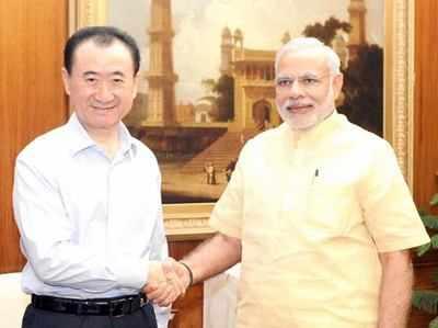 चीन की रीयल्टी कंपनी डालियान वांडा ग्रुप के चेयरमैन ने की मोदी से मुलाकात।