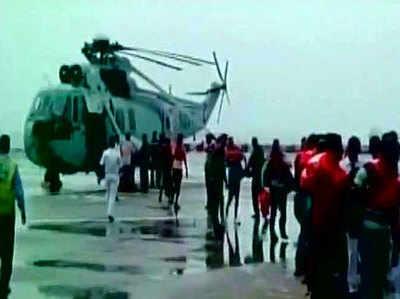 मुंबई के पास जहाज डूबने का खतरा, क्रू मेंबर्स को बचाया गया