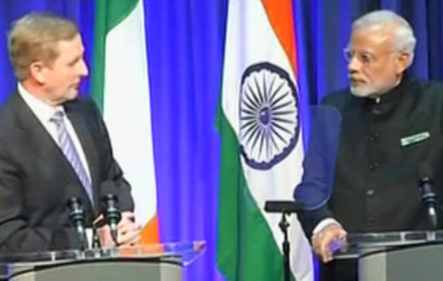 भारत, आयरलैंड ने दिया संयुक्त बयान