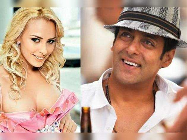 Lulia Vantur and Salman Khan
