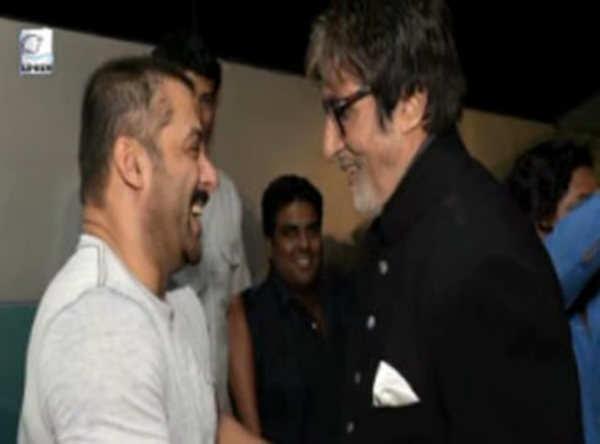 Salman Khans candid moment with Amitabh Bachchan