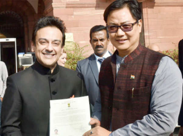 Adnan Sami tweets Jai Hind after getting Indian citizenship