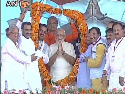 यूपी के सहारनपुर में पीएम मोदी ने की रैली