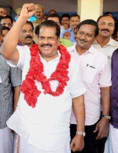 Kannur: LDF candidate EP Jayarajan celebrates his victory in Assembly elections...