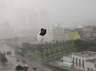 Video Its raining furniture Miami storm wreaks havoc as chairs and loungers tumble