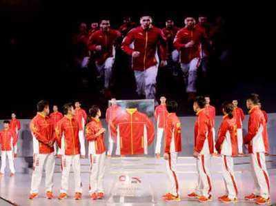 रियो ओलिंपिक के लिए तैयार चीनी खिलाड़ियों की फाइल फोटो