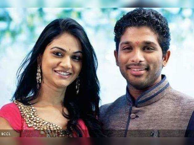 Sneha Reddy and Allu Arjun