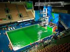 Green pool to be drained say Olympic officials