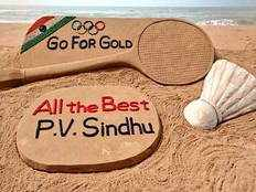 Sand art for PV Sindhu