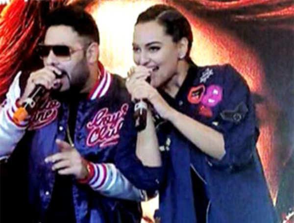 Rapper Badshah surprises Sonakshi during Akira promotions