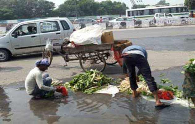 देखिये: कैसे गंदे पानी में धोई जा रही हैं सब्जियां