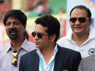 श्रीकांत और अजहरुद्दीन के साथ सचिन।