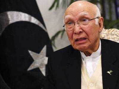 पाकिस्तानी प्रधानमंत्री नवाज शरीफ के सलाहकार सरताज अजीज