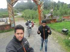 Two bikers finished a three nation ride