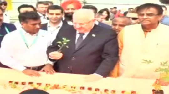 Israeli President Reuven Rivlin visits Centre of Excellence for Vegetables  in Haryana