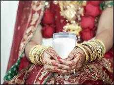 why newly married couple drink milk on their first night