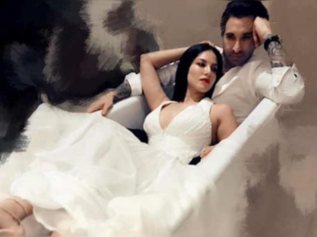 बाथटब में पति के साथ सनी लियोनी की ये तस्वीर हुई वायरल