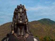 pm shri narendra modi unveils 112 feet statue of aadi yogi