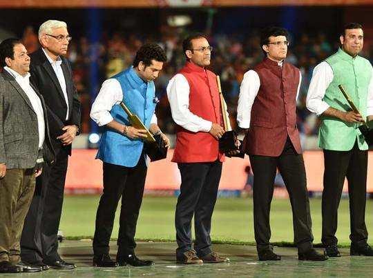 IPL का आगाज, सचिन, सौरव, सहवाग, लक्ष्मण सम्मानित, द्रविड़ रहे नदारद