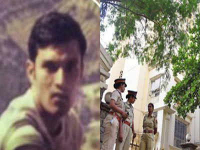 कुलभूषण जाधव की पुरानी तस्वीर (बाएं), मुंबई स्थित उनका फ्लैट (दाएं)