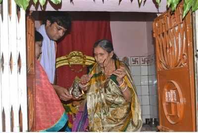 వికారాబాద్  విచ్చేసి మోదీ సతీమణి జశోదాబేన్
