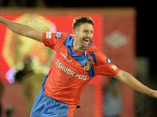 ipl 2017: IPL: गुजरात लायंस को बड़ा झटका, ऐंड्रू टाय हुए आईपीएल 2017 से बाहर - ipl 2017 gujarat lions fast bowler andrew tye out of the ipl | Navbharat Times