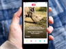 male rhino goes on tinder to highlight crisis