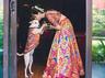 brides beloved dog becomes the ring bearer at her wedding