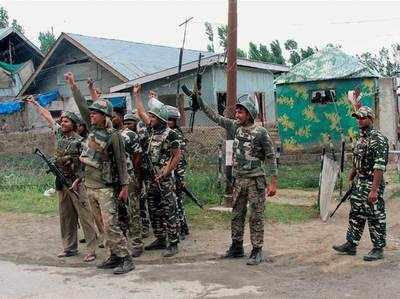 आतंकियों को मार जवानों ने लगाए भारत माता की जय के नारे।