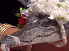 a man marries a crocodile in mexico