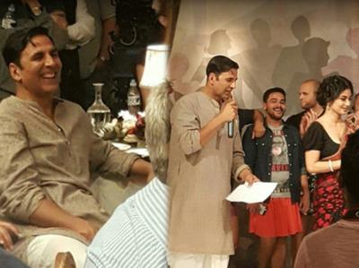 देखिए, अक्षय कुमार और मौनी रॉय की फिल्म की यह तस्वीर