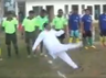 viral content chief guest slips on ground during the inauguration of football match