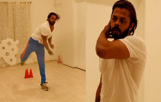 क्रिकेट में वापसी के लिए श्रीसंत कर रहे है कड़ी मेहनत