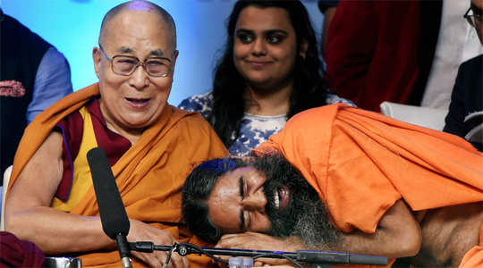 Watch: Baba Ramdev, Dalai Lama share light moments at World Peace and  Harmony conclave