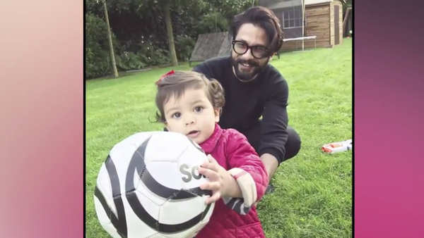 shahid kapoor enjoys playtime with daughter misha
