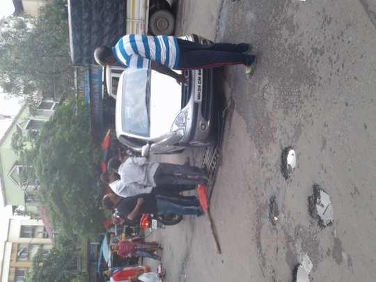 Unsafe gutter on Road