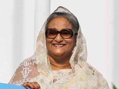 बांग्लादेश की प्रधानमंत्री शेख हसीना।