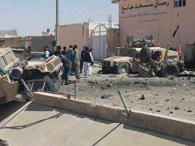 पिछले हफ्ते लश्करगाह में भी इसी तरह का हमला हुआ था।