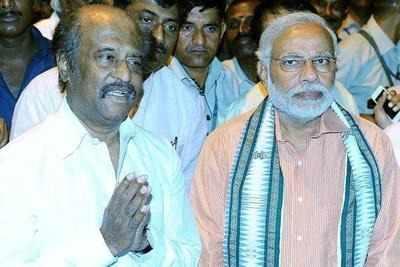 Rajinikanth with Narendra Modi in chennai ( FIle photo)
