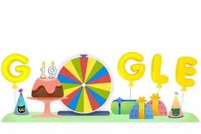 Google birthday spinner