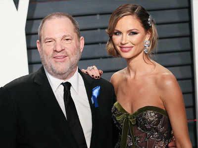 अपनी पत्नी के साथ हार्वी वाइंस्टाइन