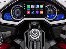 hondas liquid cooled gold wing is the first motorcycle with carplay